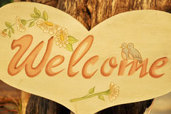 The welcome board Royalty Free Stock Photography