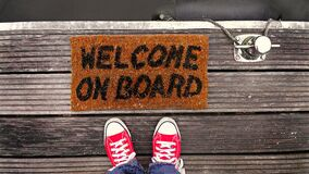 Welcome on board Royalty Free Stock Images