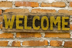 WELCOME board Royalty Free Stock Image