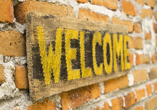 WELCOME board Royalty Free Stock Photos