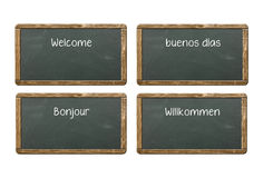 Welcome boards Royalty Free Stock Photo