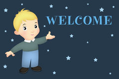 Welcome Boy Royalty Free Stock Photography