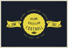 Welcome Brazilian football Royalty Free Stock Image