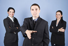 Welcome business group Stock Image