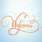 Welcome calligraphic text with a rope texture Royalty Free Stock Photos