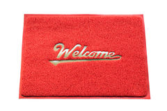 Welcome capet isolated on white background. Royalty Free Stock Photography