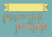 Welcome. Card with Banner for custom text royalty free stock photography