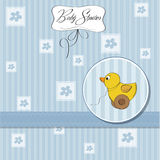 Welcome card with duck. Toy Royalty Free Stock Photos