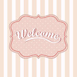 Welcome card. Vector background Stock Photos