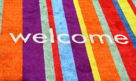 Welcome Carpet Stock Photography