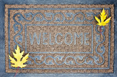 Welcome carpet, autumn, fall Stock Photo