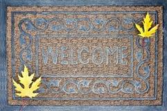 Welcome carpet, autumn, fall Stock Photo