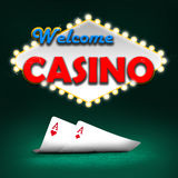Welcome casino Stock Photography