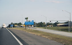 Welcome Centre sign on Highway in Florida USA Royalty Free Stock Photos