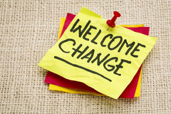 Welcome change Stock Photo