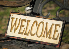 Welcome Chickadee Stock Images