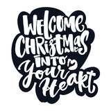 Welcome Christmas into your heart Royalty Free Stock Photos