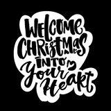 Welcome Christmas into your heart Stock Photo