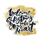 Welcome Christmas into your heart Royalty Free Stock Images