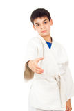Welcome in class taekwondo Royalty Free Stock Images