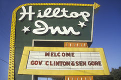Welcome Clinton/Gore sign on the 1992 Buscapade campaign tour in Texas Royalty Free Stock Image