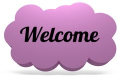 Welcome Cloud Royalty Free Stock Photo