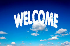 Welcome clouds Royalty Free Stock Photo