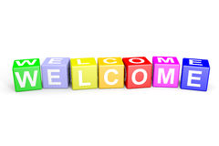 Welcome colorful cubes. Stock Images