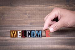Welcome, communication and business concept Stock Image