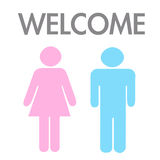 Welcome concept by man and woman, image. royalty free illustration