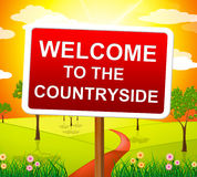 Welcome Countryside Means Nature Hello And Meadows Stock Photo