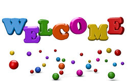 Welcome 3D. Welcome abstract 3d concept text Royalty Free Stock Images