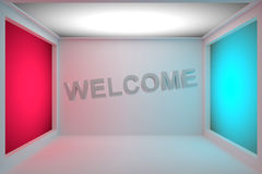 Welcome 3D Royalty Free Stock Photography