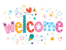 Welcome decorative type lettering text design Royalty Free Stock Image