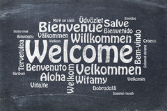 Welcome in different languages Royalty Free Stock Photo