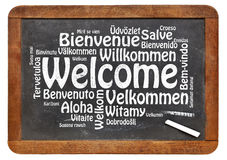 Welcome in different languages Stock Photography