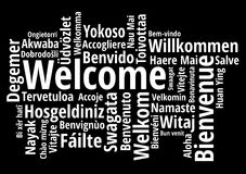 Welcome in different languages wordcloud vector vector illustration