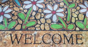 Welcome Door Mat Isolated Royalty Free Stock Images