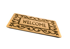 Welcome door mat isolated Stock Photography