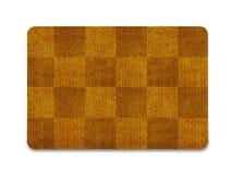 Welcome doormat. Brown welcome carpet, welcome doormat carpet  on white Stock Images