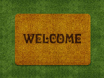 Welcome doormat Royalty Free Stock Images