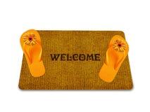 Welcome doormat Royalty Free Stock Image
