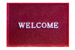 Welcome doormat carpet isolated on white Royalty Free Stock Image