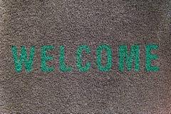Welcome doormat Stock Photography