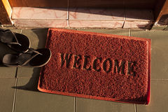 Welcome doormat Stock Photo