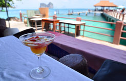 Welcome drink & vacation Stock Image