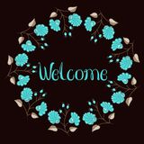 Welcome flower wreath Stock Image