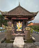 Welcome gate temple danu bedugul stock image