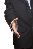 Welcome gesture. Of business man stock photo