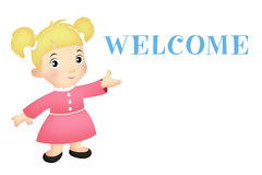 Welcome Girl royalty free illustration